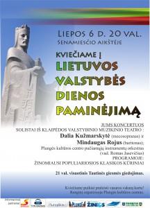 Lietuvos karaliaus Mindaugo Karūnavimo dienai paminėti skirti renginiai