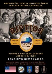 Grupės RIPTIDE iš JAV koncertas ir amerikietiškų šokių popietė @ Plungės kultūros centras | Plungė | Telšių apskritis | Lietuva