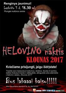 Renginys jaunimui HELOVYNO NAKTIS KLOUNAS 2017 @ Plungės kultūros centras | Plungė | Telšių apskritis | Lietuva