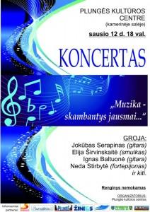 Koncertas MUZIKA - SKAMBANTYS JAUSMAI @ Plungės kultūros centras | Plungė | Telšių apskritis | Lietuva