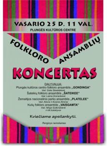 Plungės rajono folkloro ansamblių koncertas @ Plungės kultūros centras | Plungė | Telšių apskritis | Lietuva