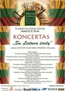 Koncertas SU LIETUVA ŠIRDY @ Plungės kultūros centras | Plungė | Telšių apskritis | Lietuva
