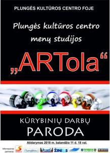 """Menų studijos ,,ARTola"""" narių kūrybos parodos atidarymas @ Plungės kultūros centras   Plungė   Telšių apskritis   Lietuva"""