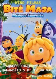 """Kino filmas ,,Bitė Maja: Medaus žaidynės"""" @ Plungės kultūros centras   Plungė   Telšių apskritis   Lietuva"""