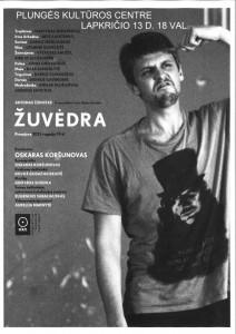 """Projekto ,,Penki profesionalaus teatro vakarai Plungėje"""" pristatymas Oskaro Koršunovo Teatro spektaklis ŽUVĖDRA"""