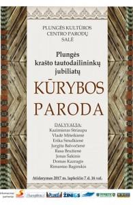 Plungės krašto tautodailininkų jubiliatų kūrybos parodos atidarymas @ Plungės kultūros centras   Plungė   Telšių apskritis   Lietuva