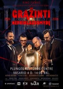 Kino filmas GRĄŽINTI NEPRIKLAUSOMYBĘ @ Plungės kultūros centras | Plungė | Telšių apskritis | Lietuva