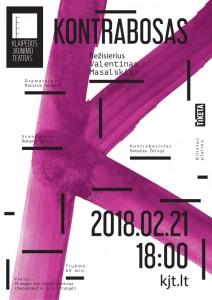 Klaipėdos jaunimo teatro mono spektaklis KONTRABOSAS @ Plungės kultūros centras | Plungė | Telšių apskritis | Lietuva