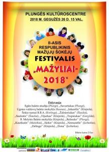 II-asis respublikinis mažųjų šokėjų festivalis MAŽYLIAI @ Plungės kultūros centras   Plungė   Telšių apskritis   Lietuva