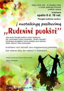 Rudeninė puokštė @ Plungės kultūros centras | Plungė | Telšių apskritis | Lietuva