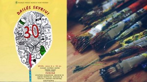Meno mokyklos dailės skyriaus 30-čiui skirtos parodos atidarymas @ Plungės kultūros centras