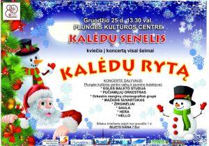 Šventinis koncertas visai šeimai KALĖDŲ RYTĄ @ Plungės kultūros centras | Plungė | Telšių apskritis | Lietuva