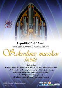 Sakralinės muzikos šventė Plungės Šv. Jono Krikštytojo Bažnyčioje