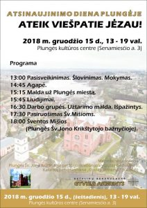Atsinaujinimo dienos renginiai @ Plungės kultūros centras
