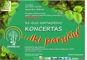 """Vaikų ir jaunimo liaudies šokių ansamblio ,,Žirginėliai"""" 35-ojo gimtadienio koncertas ,,Iki paryčių"""" @ Plungės kultūros centras"""