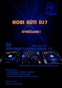 DJ Kūrybinė laboratorija #1 @ Plungės kultūros centras