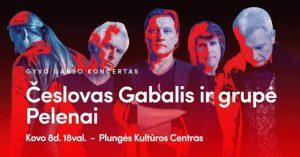 """Česlovo Gabalio ir grupės ,,Pelenai"""" gyvo garso koncertas @ Plungės kultūros centras"""