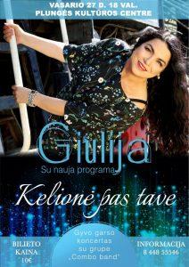"""Giulijos ir grupės ,,Combo band"""" koncertas ,,Kelionė pas tave"""""""