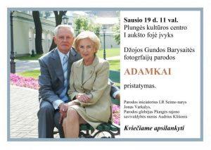 Džojos Gundos Barysaitės fotografijų parodos ADAMKAI pristatymas @ Plungės kultūros centras