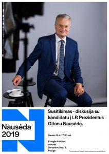 Susitikimas - diskusija su kandidatu į LR Prezidentus Gitanu Nausėda @ Plungės kultūros centras