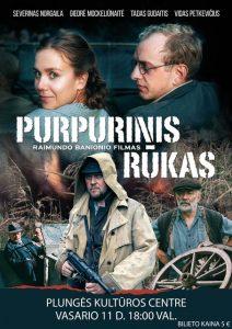 """Kino filmas ,,Purpurinis rūkas"""" @ Plungės kultūros centras"""