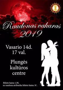 """Plungės ,,Interact"""" klubo organizuojamas renginys, skirtas Valentino dienai, mažojoje salėje"""