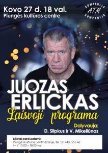 """Juozas Erlickas ,,Laisvoji programa"""" @ Plungės kultūros centras"""