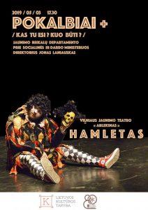 """Renginių ciklas ,,Pokalbiai +"""" ir ,,Arlekino"""" teatro spektaklis ,,Hamletas"""" @ Plungės kultūros centras"""