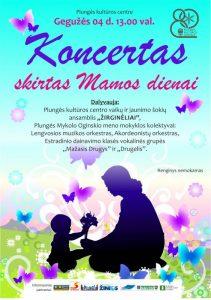 Koncertas, skirtas Mamos dienai @ Plungės kultūros centras