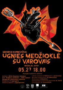 """Miuziklas-siuita """"Ugnies medžioklė su varovais"""" @ Plungės kultūros centras"""