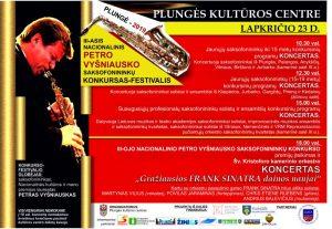 III Nacionalinis Petro Vyšniausko saksofonininkų konkursas - festivalis @ Plungės kultūros centras