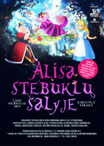 """Teatralizuotas cirko šou vaikams ,,ALISA STEBUKLŲ ŠALYJE"""" @ Plungės kultūros centras"""