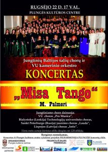 Jungtinių Baltijos šalių chorų, VU kamerinio orkestro koncertas @ Plungės kultūros centras