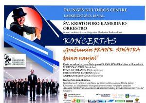 Pasaulinio garso hitų karaliaus Frank Sinatra dainų koncertas @ Plungės kultūros centras