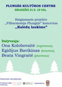 """Koncertas ,,Kalėdų laukime"""" @ Plungės kultūros centras"""
