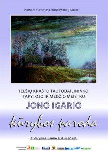 Tautodailininko Jono Igario tapybos ir skulptūrų parodos atidarymas @ Plungės kultūros centras